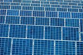 picture of environment-friendly  - panels a solar power plant - JPG