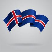 pic of waving  - Icelandic waving Flag - JPG
