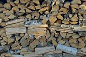 picture of firewood  - Background - JPG