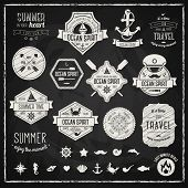 picture of marines  - Vintage design elements - JPG
