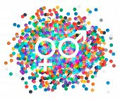 picture of gay symbol  - Male and female symbols combination - JPG