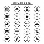 picture of elevator icon  - 20 hotel services black icons - JPG