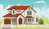 Family House. Vector illustration. EPS8