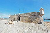 stock photo of lagos  - Medieval Fortaleza da Ponta da Bandeira at Lagos - JPG