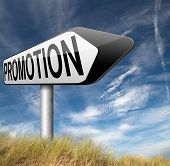foto of promoter  - sales promotion or career move and job promotion  - JPG