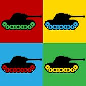 picture of panzer  - Pop art panzer symbol icons - JPG