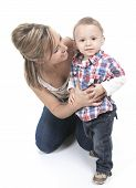 picture of hearing  - Mother with son - JPG