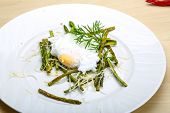 Постер, плакат: Benedict Egg With Asparagus