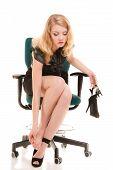 foto of foot massage  - Work stoppage and leg pain - JPG