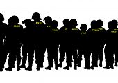 picture of special forces  - People of special police force on white background - JPG