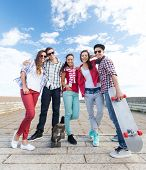 foto of teenagers  - summer holidays and teenage concept  - JPG