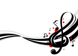stock photo of musical scale  - Stylish design of music notes - JPG