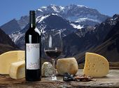 foto of aconcagua  - cheese and wine - JPG