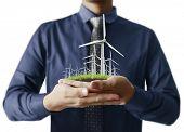 stock photo of wind-power  - Eco power - JPG
