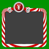 pic of yen  - Abstract frame for your text and yen - JPG