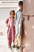 PAKISTAN, KARACHI - NOVEMBER 14: Children from poor neighborhoods, November 14, 2006 in Karachi, Pak