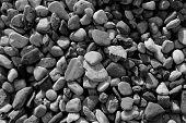 background texture with round peeble stones