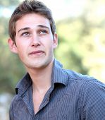 picture of youg  - portrait of a handsome youg man - JPG