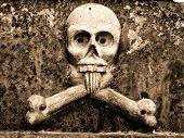 Skull and Crossbones at La Recoleta Cemetery in Buenos Aires
