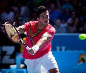 MELBOURNE - JANUARY 19: Fernando Verdasco of Spain in his second  round win over Janko Tipsarevic of