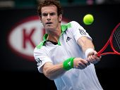 MELBOURNE - JANUARY 26: Andy Murray of Great Britain on his way to the final of the 2011 Australian