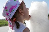 Girl Licks Candyfloss