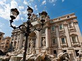 Trevi Fountain - famous landmark in Rome poster