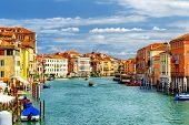 Beautiful View Of The Grand Canal In Venice, Italy poster