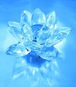 Diamond flower sobre fondo azul