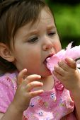 stock photo of candy cotton  - my niece getting sticky all over - JPG