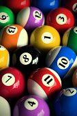 stock photo of pool ball  - 3D rendering of colorful pool balls  - JPG