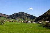 Landscape in the Black - forest , Germany , Glottertal