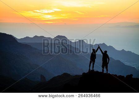 Teamwork Couple Helping Hand Trust