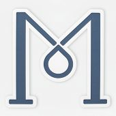 English alphabet letter M icon isolated poster