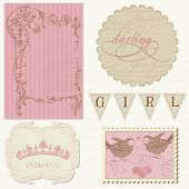 Scrapbook design elements - Beautiful Girl