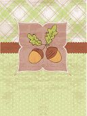 Autumn Vintage Card with Acorns and place for your text