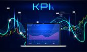 Kpi (key Performance Indicators), Business Analytics Concept, Metrics To Measure Achievement Versus  poster