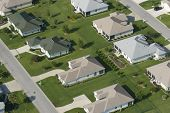 Aerial view of houses in typical home community 02