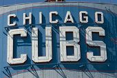 Chicago Cubs sign at Wrigley Field not registered logo