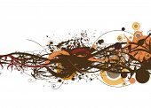 abstract autumn vector illustration floral & grunge design elements