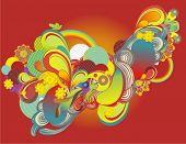 decorativo moderno abstracto, vector