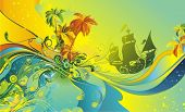 tropical summer,modern abstract vector design