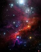 Abstract, Astronomy, Background, Beautiful Background, Starry Sky, Black, Clouds, Colorful Nebula, C poster