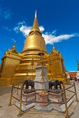 Thai Stupa in Wat Phra Kaeo, Bangkok, Thailand