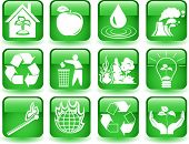 Vector of environmental icons set