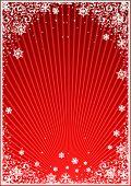 Red winter frame