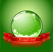 realistic green christmas sphere