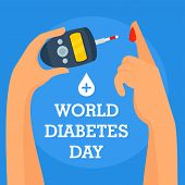 Human Diabetes Day Concept Background. Flat Illustration Of Human Diabetes Day Vector Concept Backgr poster