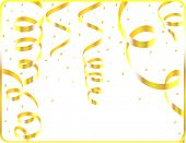 Vector of gold streamers frame