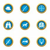 Determination Icons Set. Flat Set Of 9 Determination Vector Icons For Web Isolated On White Backgrou poster